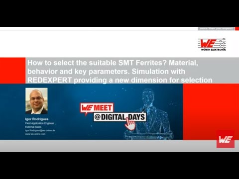 WE meet @ Digital Days 2020: How to select the suitable SMT ferrites