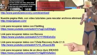 Msjorgejuan! -- a Cómo recuperar archivos borrados de tu disco duro con Pandora Recovery