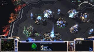 StarCraft II PC Gameplay 2 3vAI Easy w Fujin and Arlsphnx