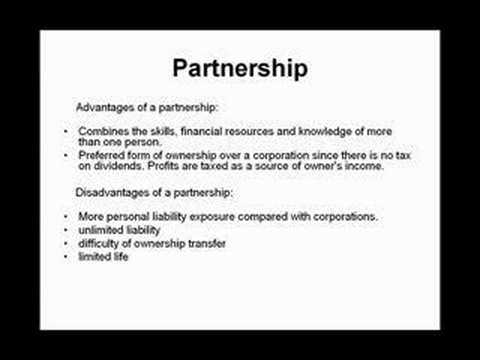 forms of business ownership - YouTube