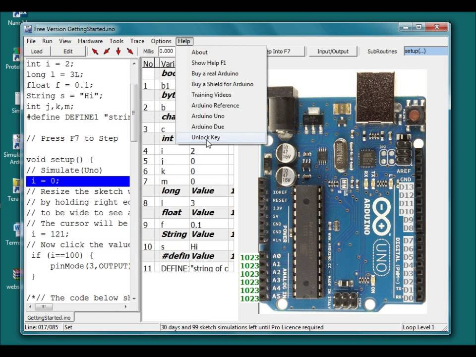 Installing the simulator for arduino and other