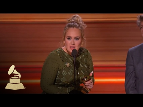 Adele Wins Record Of The Year | Acceptance Speech | 59th GRAMMYs