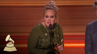 Download Adele Wins Record Of The Year | Acceptance Speech | 59th GRAMMYs Mp3 and Videos