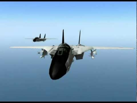 US F-14 Tomcats VS Libyan Mig-23 Floggers