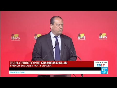 France Legislative Elections: Defeated Socialist Party Leader Cambadelis addresses the press