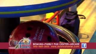 Sarah in the Colonial Lanes TV bowling commercial doing her thing (hula ballooning)!