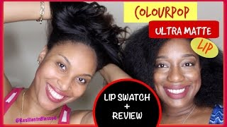 ♥ColourPop Ultra Matte Lip (Lip Swatches & Review) Ft. My Cousin! #thepaintedlipsproject