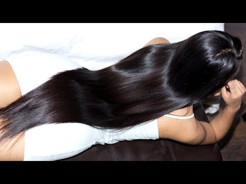 Saray ASMR Relaxing Long Hair Play, Brushing, Ponytail And Bun Drop