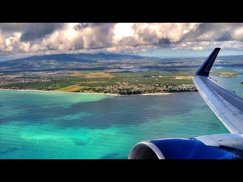 BEAUTIFUL GORGEOUS HD LANDING IN HONOLULU OAHU HAWAII WAIKIKI DIAMOND HEAD UNITED BOEING 777