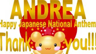 "Music Video! Andrea Happy Japanese National Anthem ""Kimigayo""!"