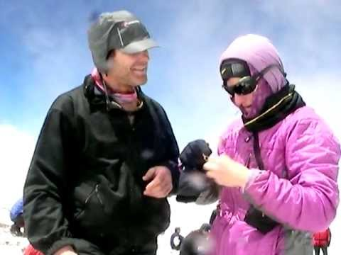 Marriage Proposal at 22840 ft the summit of Aconcagua