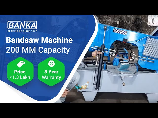Band saw Machine Working ₹ 1.36 Lakh For 200mm capacity with 3yr Warranty, Free Delivery 9377093780