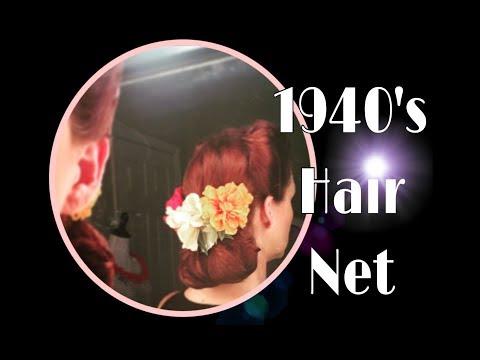 1940's Hair Net Style