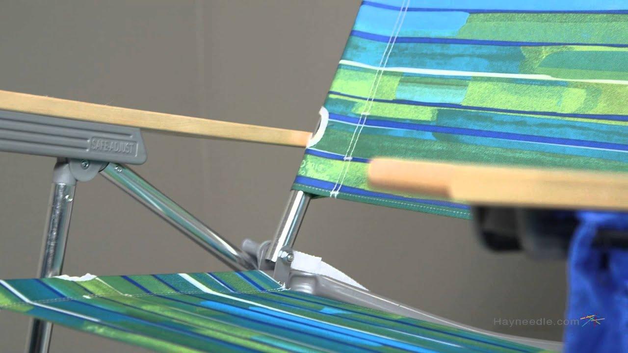 big kahuna beach chair x rocker review rio green blue youtube