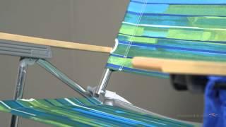 Rio Big Kahuna Beach Chair - Green/Blue
