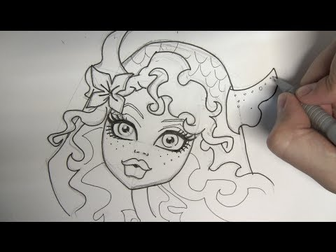 Line Drawing Monster : How to draw lagoona blue from monster high step by youtube
