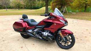 2018 HONDA GOLDWING 1800 NAVIGATION CANDY ARDENT RED USED FOR SALE INFO WWW.SUNSETMOTORS.COM