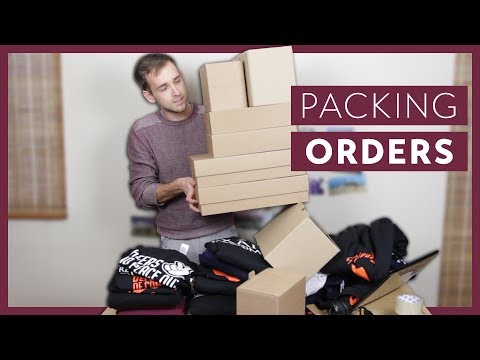 How I Package All The T-shirt, Hoodie And Sweatshirt Orders