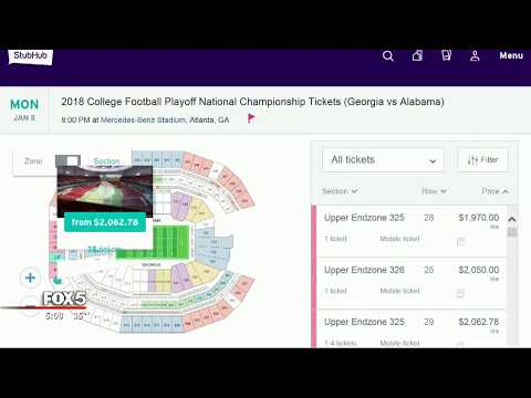 How much are tickets to the National Championship game
