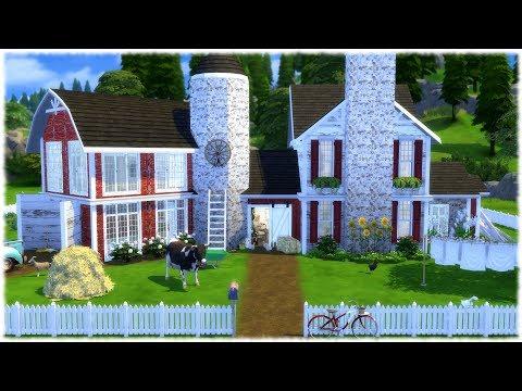The Sims 4: Speed Build // FARM HOUSE + CC LINKS