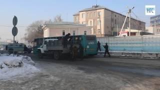 Антитеррористические учения «Циклон» на новосибирском автовокзале