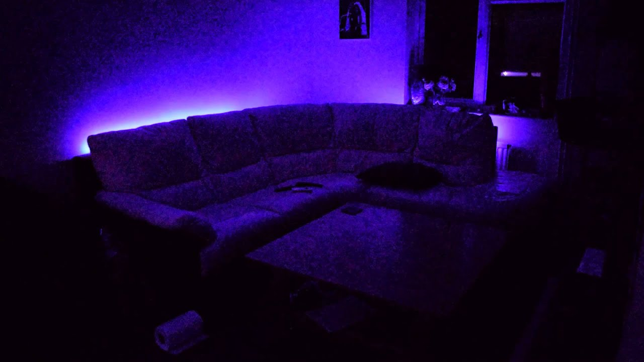 Sofa Led Custom Sofa Mount Led Sound Control Lighting Installation