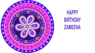 Zameena   Indian Designs - Happy Birthday