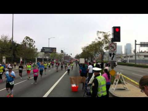 Jack Kinney Running in the 2013 Los Angeles Marathon (Santa Monica and Overland)