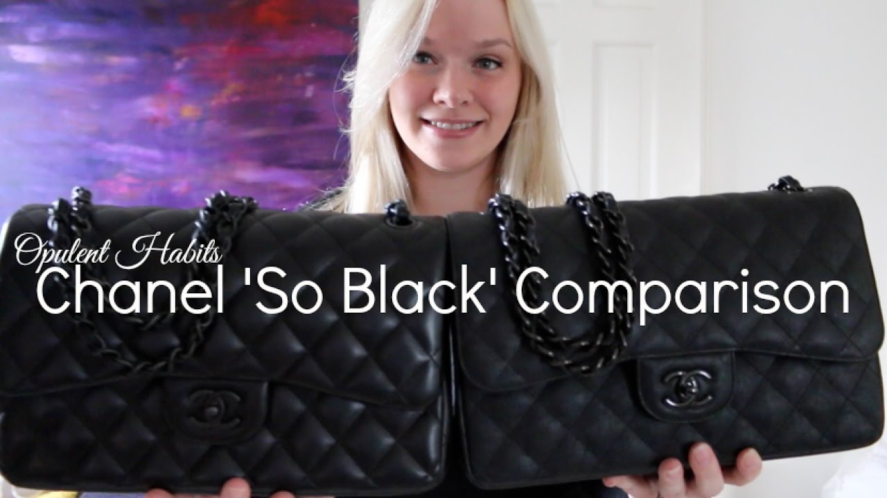 a48209ef251e Chanel So Black Jumbo Comparison - Lambskin vs Crumpled Calfskin | Opulent  Habits