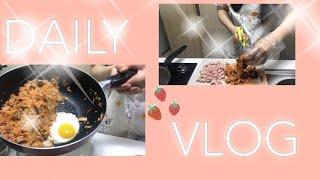ENG) vlog 자취생 브이로그(김치볶음밥,아몬드브리…