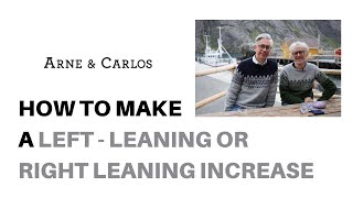 How to make right- or left-leaning increases when knitting Norwegian mittens by ARNE & CARLOS.