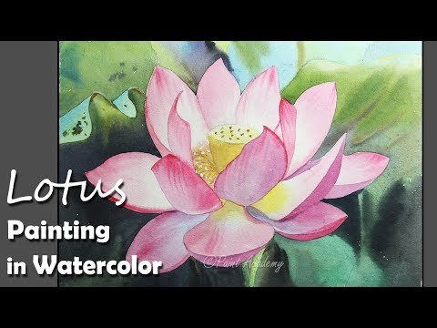 How to Paint A Lotus Flower in Watercolor
