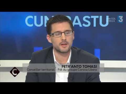 Cuntrastu - Petr'Anto Tomasi, président du groupe Corsica Libera à l'Assemblée de Corse
