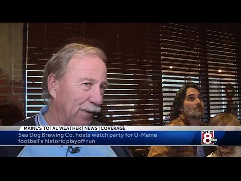 UMaine fans and alumi enjoy watch party at Sea Dog Brewing Company