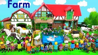Schleich Farm Animal Toys For Kids - Learn Animal Names and Sounds - Learn Colors with Animals