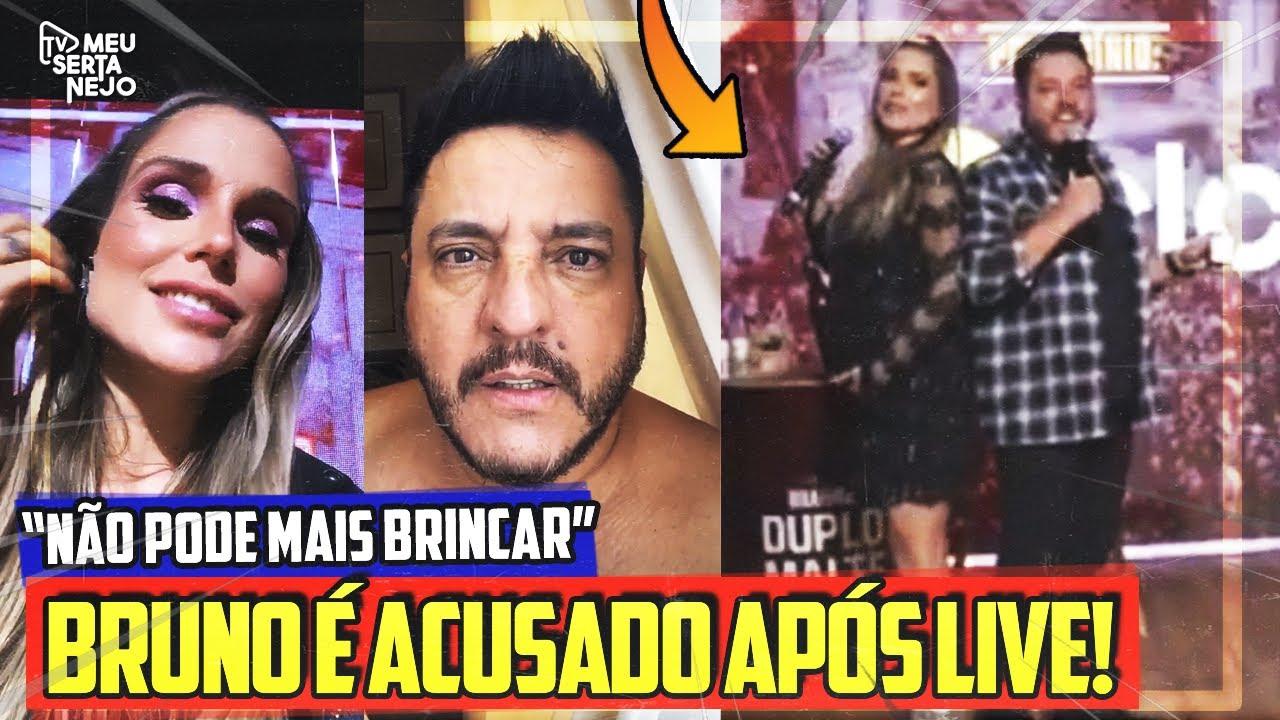 BRUNO é ACUSADO de ASSÉDIO EM LIVE após APRESENTADORA se SENTIR CONSTRANGIDA!