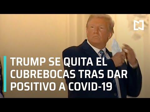 Trump regresa a la Casa Blanca tras dar positivo a Covid-19 y se quita el cubrebocas - Las Noticias