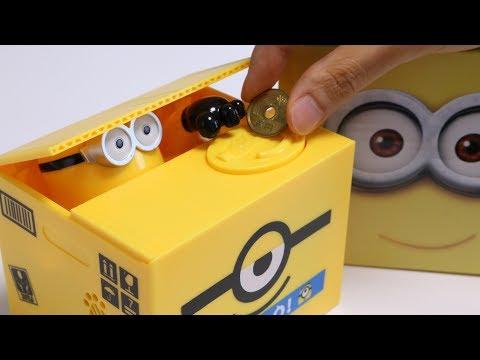Minions Piggy Bank Trick Saving Box