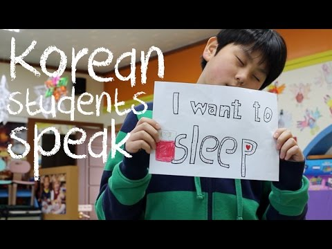Korean Students Speak: What do you want to tell the world?