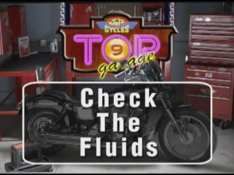 Motorcycle Tech Tip - Check the Fluids.  Brought to you by J&P Cycles.