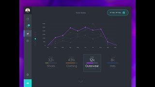 Designing Dashboard UI Using JavaFx | Dark Dashboard