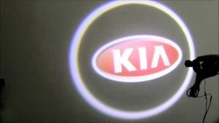 Подсветка логотипа в двери для Kia