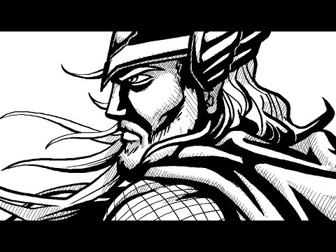 How to Draw Comic-Book Style Ink! Digital Linework and Shading Tutorial