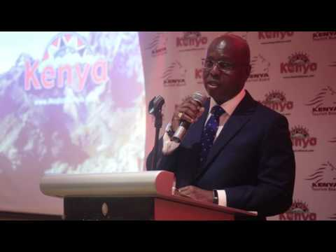 Magical Kenya Travel Card Launch - KTB Chairman Jimi Kariuki gives the opening remarks