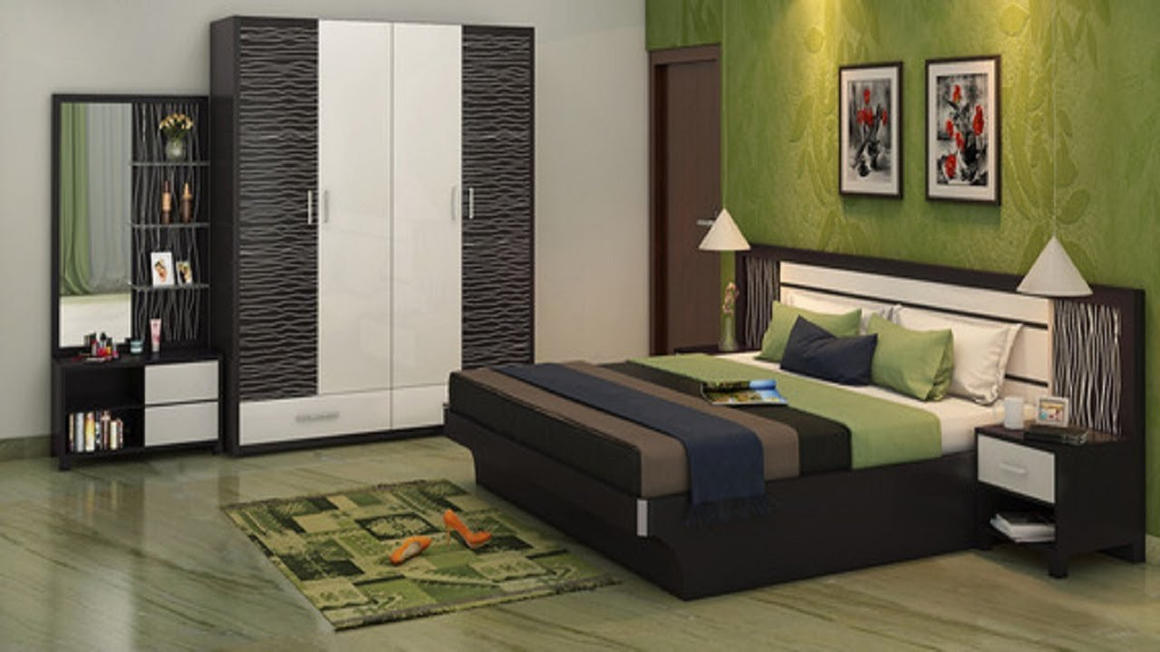 Simple bedroom Interior design ideas  Bedroom cupboards and bed interior designs  YouTube
