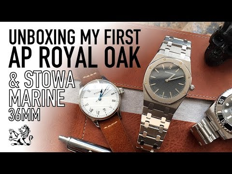 Unboxing My First Audemars Piguet Royal Oak & Stowa Marine Classic 36mm Watches