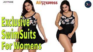 Aliexpress -  One Piece Plus Size Swimsuit Push Up Beachwear For Fat Women