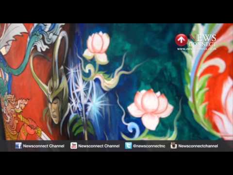 ไอเดียวัดเมืองชลฯวาดฮีโร่บนผนังกำแพงโบสถ์แฝงคติธรรม : NewsConnect Channel
