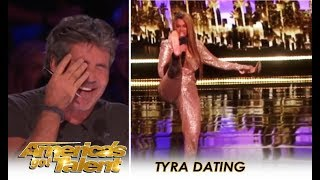 Tyra Banks BLIND DATES Creeps Set Up By Simon Cowell 🤣 | America's Got Talent 2018