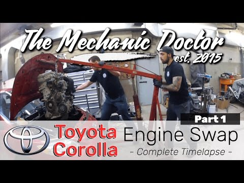 Toyota Corolla Engine Swap Part 1 | A Day in the Life of an Auto Mechanic